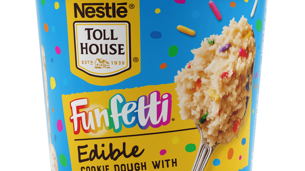 Nestlé Toll House's New Edible Cookie Dough Flavors include a birthday cake-inspired variety.