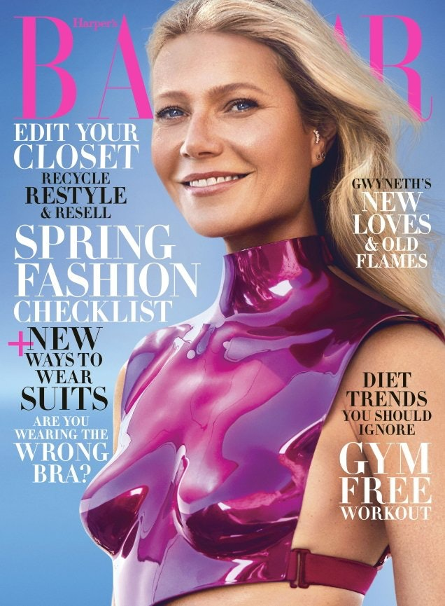 Gwyenth Paltrow twinned with Zendaya when she wore the same crop top on the cover of Harper's Bazaar.