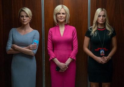 Charlize Theron, Nicole Kidman, Margot Robbie in 'Bombshell' Oscars 2020