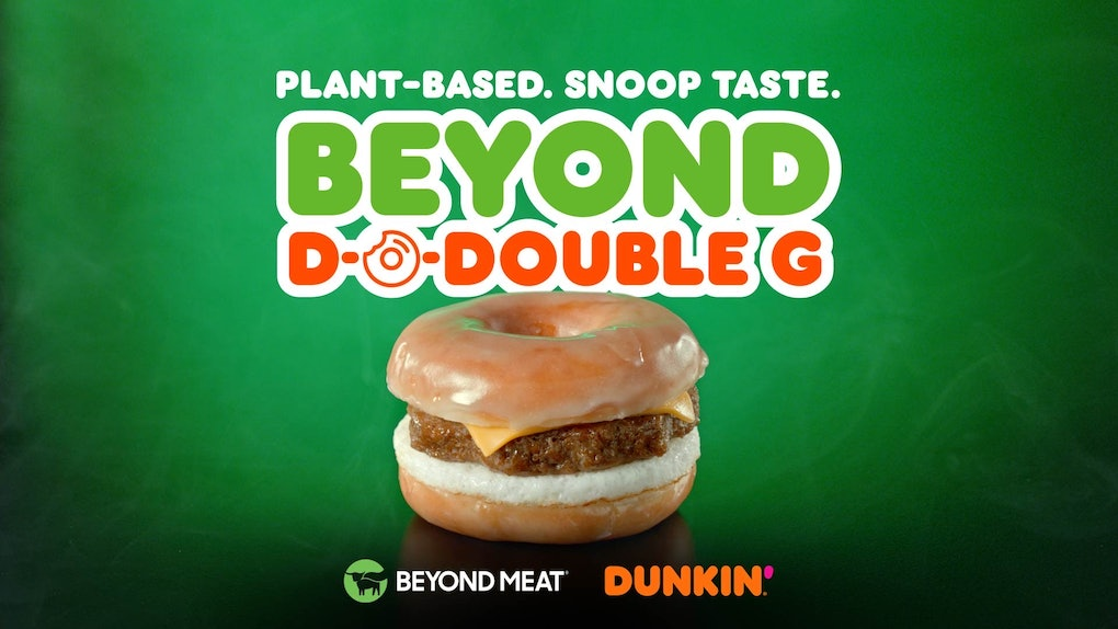 Dunkin' and Snoop Dogg's Beyond Breakfast Sausage Sandwich is a satisfying bite.