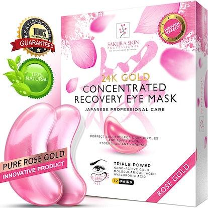 SWISSÖKOLAB Eye Pads 24k Rose Gold Eye Mask