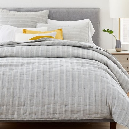Hemp & Cotton Hazy Stripe Coverlet & Shams