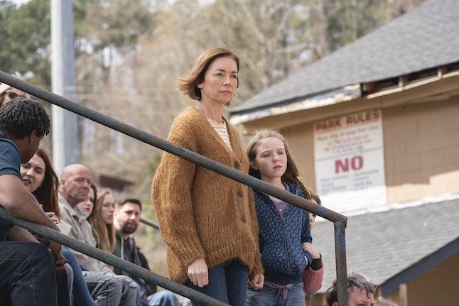 Julianne Nicholson and Scarlett Blum in HBO's The Outsiders.