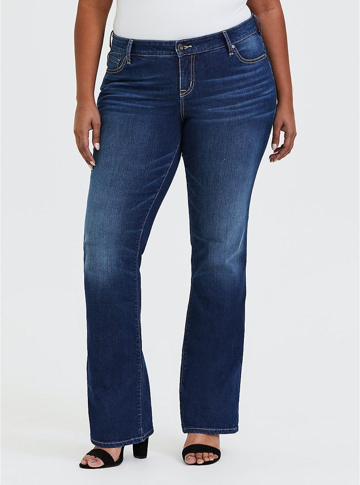 "Relaxed Blue Jean in ""Vintage Stretch Dark Wash"""