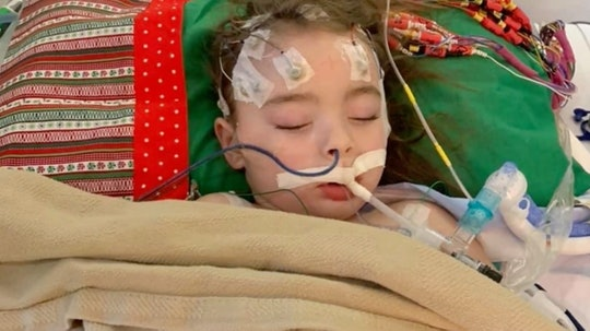 A 4-year-old has gone blind after contracting the flu and doctors aren't sure if she'll regain her sight.