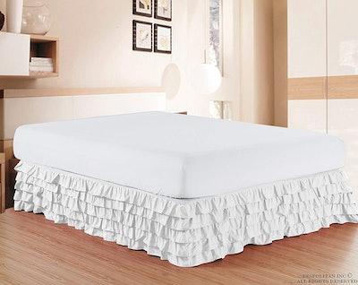 Elegant Comfort Multi-Ruffle Bed Skirt