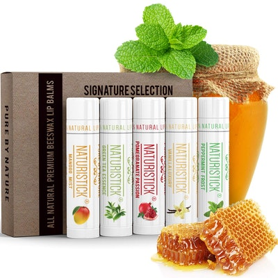 All-Natural Lip Balm Gift Set by Naturistick (5-Pack)