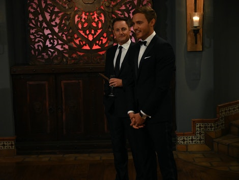 Peter Weber and Chris Harrison on The Bachelor
