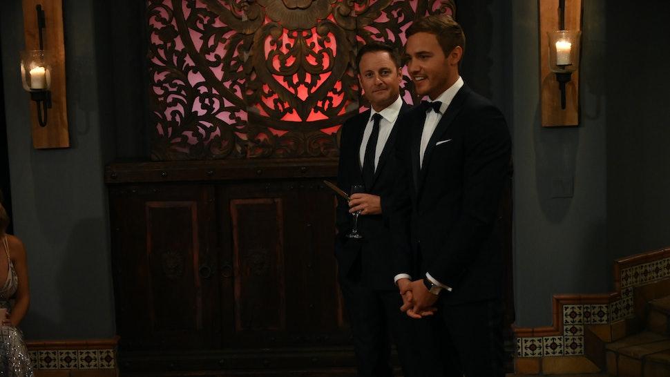 Peter Weber and Chris Harrison on The Bachelor