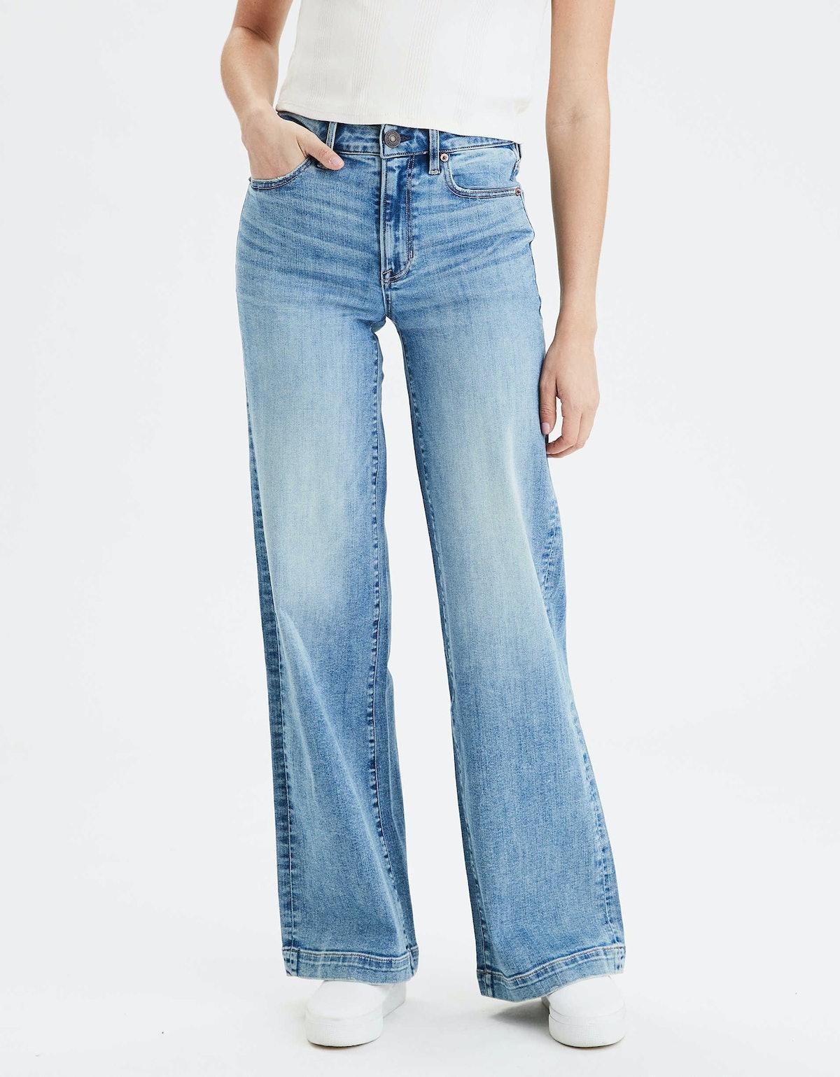 "Wide Leg Jean in ""Medium Indigo"""