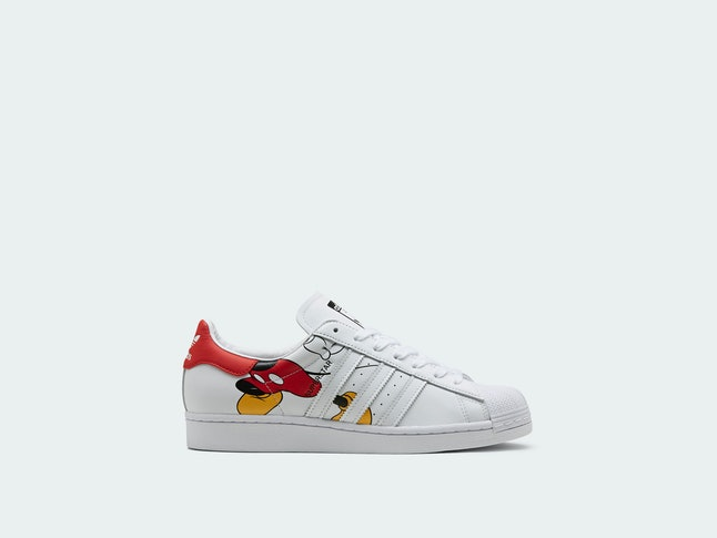 Adidas x Disney Mickey Mouse Superstars launch Jan. 18.