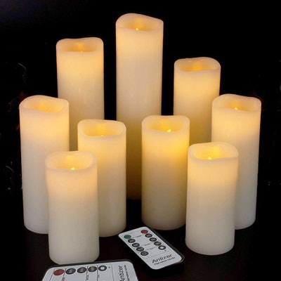 Antizer Flameless Candles (9-Piece Set)