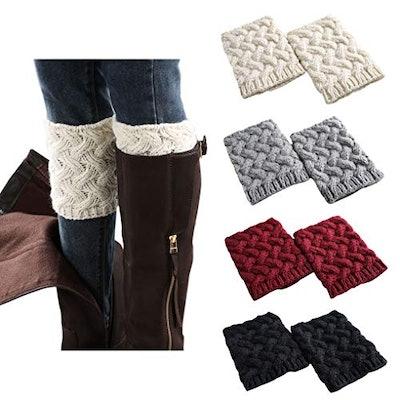 FAYBOX Short Crochet Boot Cuffs