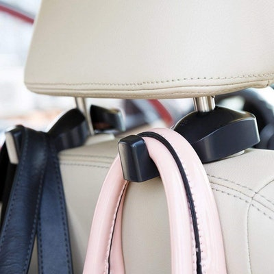 IPELY Universal Car Vehicle Back Seat Headrest Hanger Holder Hook for Bag Purse Cloth Grocery (2-Pack)