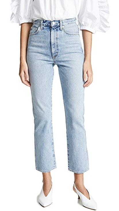 High Rise Kick Pinch Waist Jeans