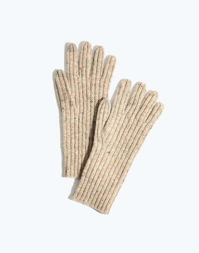 Ribbed Texting Gloves