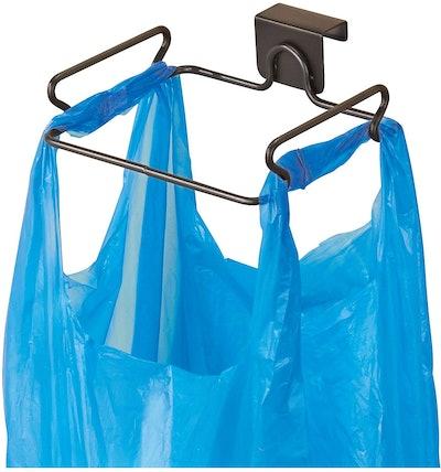 iDesign Classico Steel Over the Cabinet Plastic Bag Holder