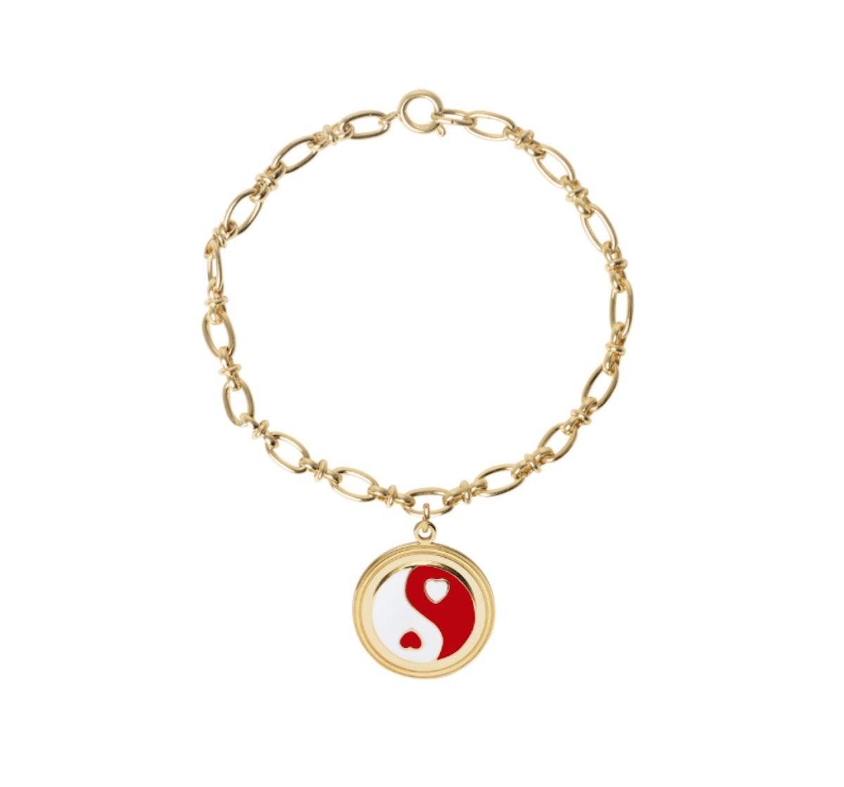 Gold Yinyang Red Bracelet