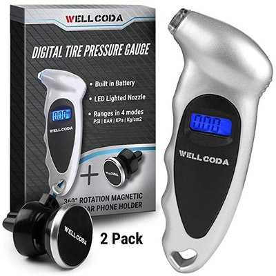 Wellcoda Tire Air Pressure Gauge