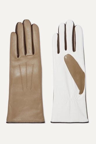 Bocker Color-Block Leather Gloves