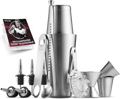 FineDine Premium Cocktail Shaker Bar Tools Set (14-Pieces)