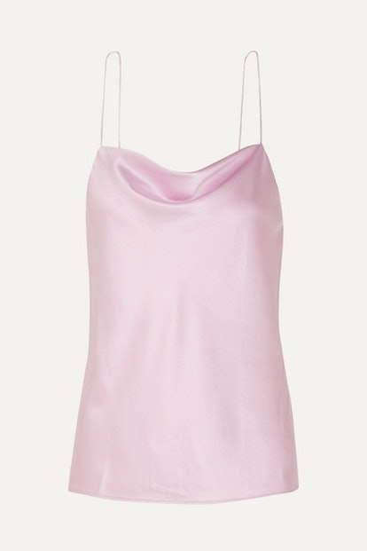 The Axel Draped Stretch-Silk Charmeuse Camisole
