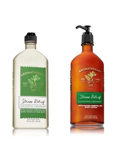 Bath & Body Works, Aromatherapy Stress Relief Body Lotion and Body Wash & Foam Bath