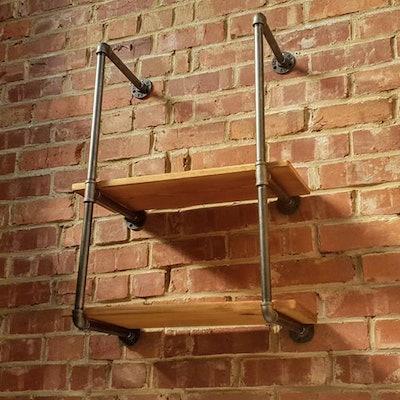 Industrial Pipe Shelves / Pipe Shelving / DIY Brackets