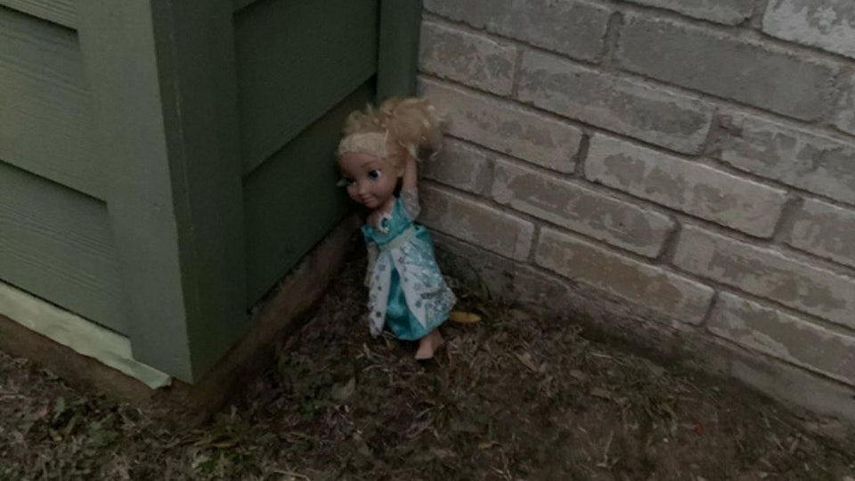 A mom is sharing her experience of an Elsa doll that simply won't go away on Facebook