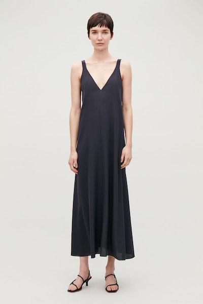 Long Silk Slip Dress
