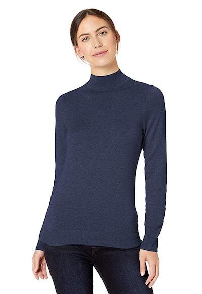 Amazon Essentials Women's Lightweight Mockneck Sweater