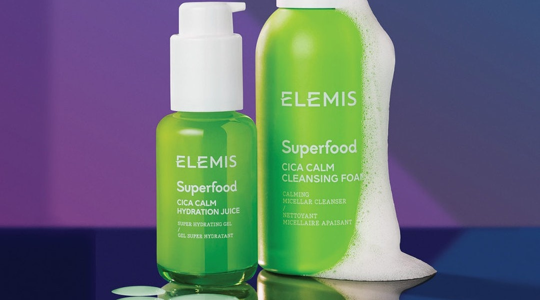 Elemis' new Superfood Cica Calm Hydration Juice and foaming cleanser.