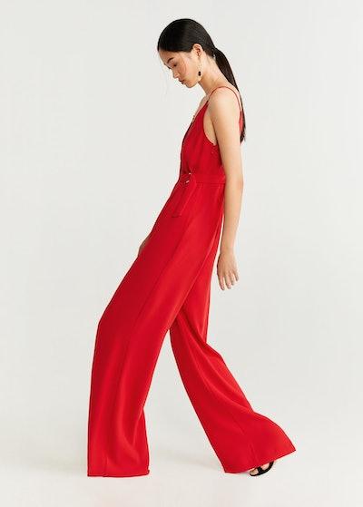 Asymmetric long jumpsuit