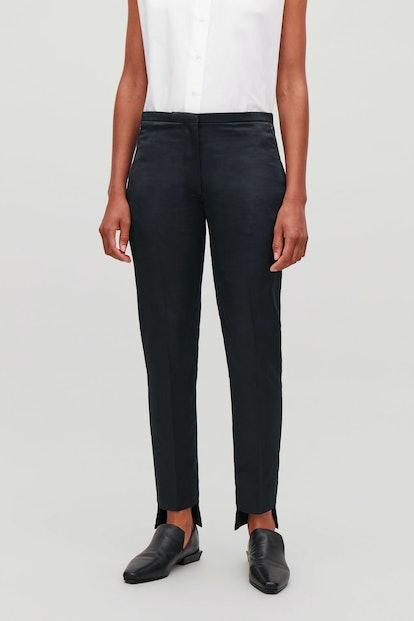 Stepped Slim-Leg Trouser
