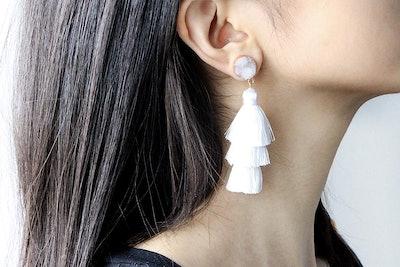 Me&Hz Layered Tassel Earrings