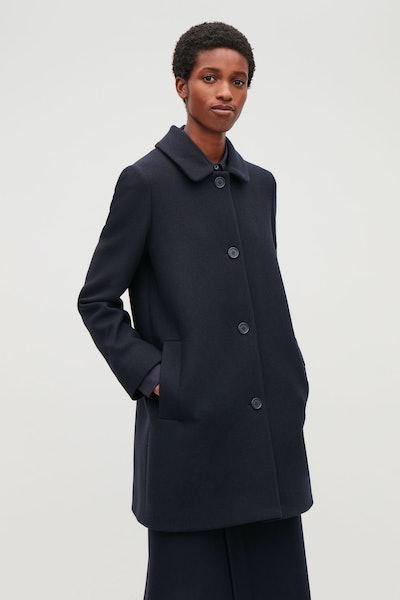 Straight Wool Coat