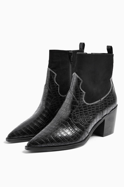 BLISS Black Western Boots