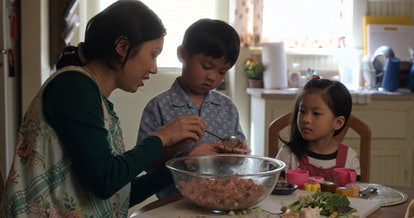 "Angela Lin, Kai To and Sophia Xu in ""Little America"" premiering January 17 on Apple TV+."