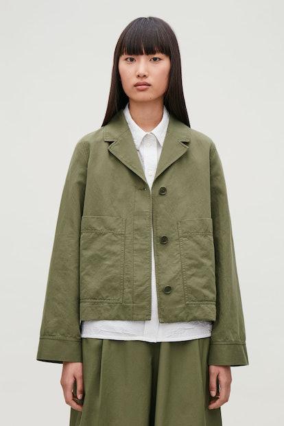 Casual Cotton-Linen Blazer