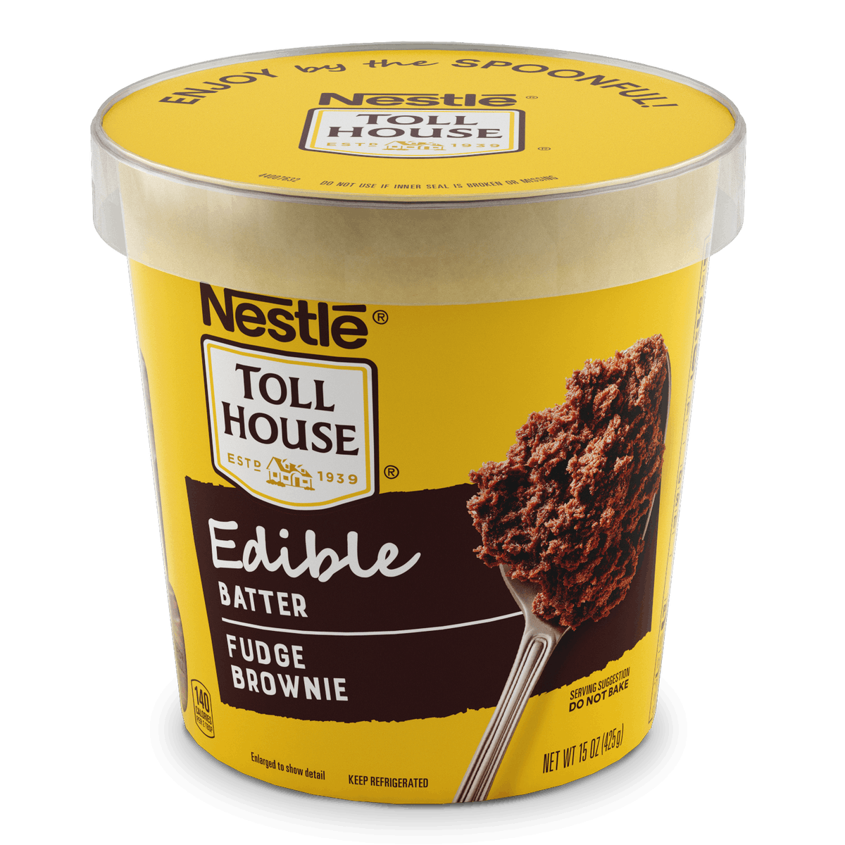 Nestlé Toll House's New Edible Cookie Dough Flavors include a fudge brownie batter offering.