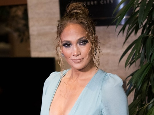 J.Lo's blonde highlights lighten up the star's hair.