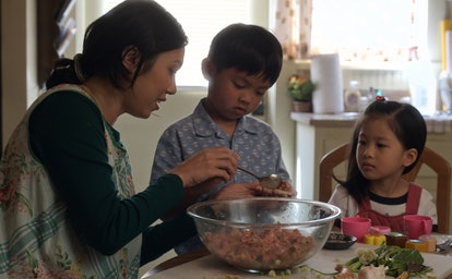 Angela Lin, Kai To and Sophia Xu in 'Little America' Season 1