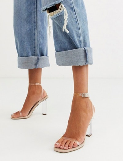 Hark clear barely there block heeled sandals