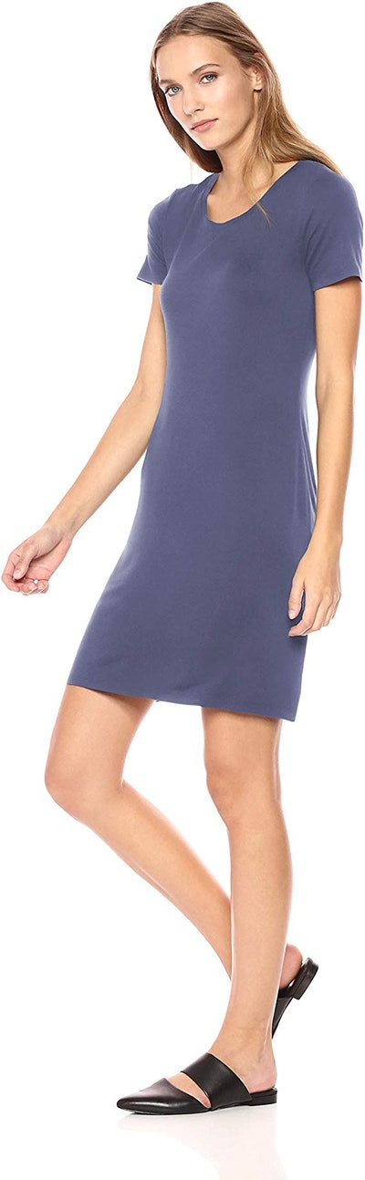 Amazon Brand - Daily Ritual Women's Scoop Neck T-Shirt Dress