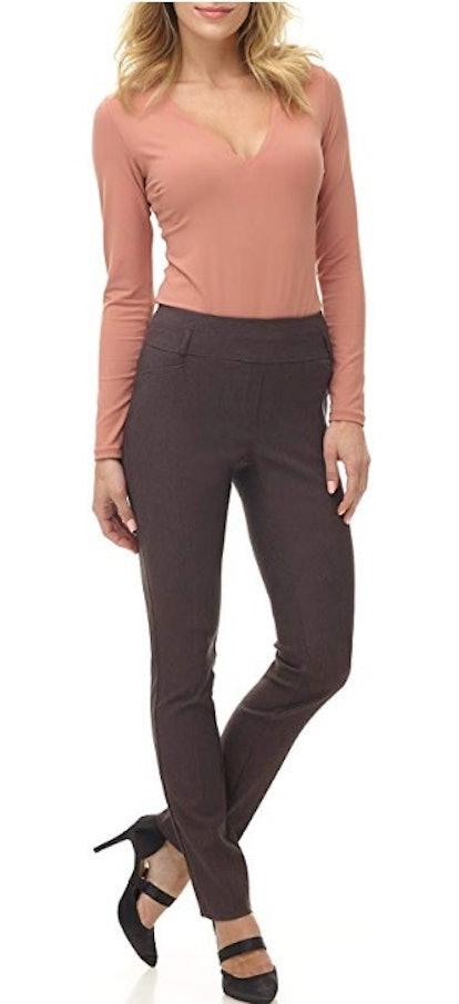 Rekucci Women's Ease Into Comfort Slim Pant