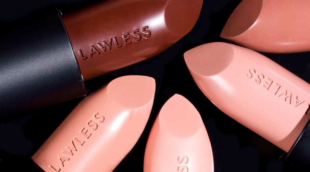 LAWLESS Beauty's new lipstick collection drops 8 wearable nude colors in a creamy bullet formula.