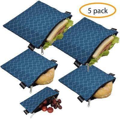 ANLOMI Reusable Sandwich Bags (5-Pack)