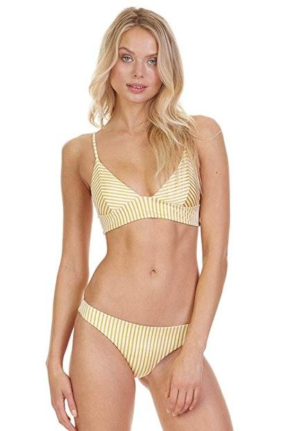 Cabana Striped Triangle Bikini Top