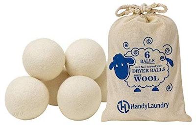 Handy Laundry Wool Dryer Balls (6-Pack)