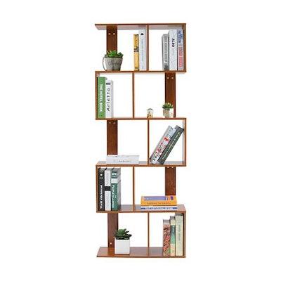 5 Tier Shelves Display Geometric Bookcase